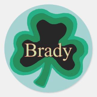 Brady Irish Round Sticker