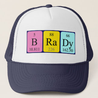 Brady periodic table name hat
