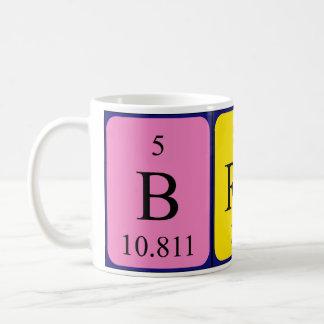 Brady periodic table name mug