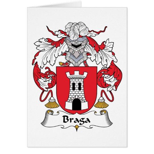 Braga Family Crest Card