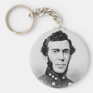 Bragg - Braxton Confederate General Civil War Basic Round Button Key Ring