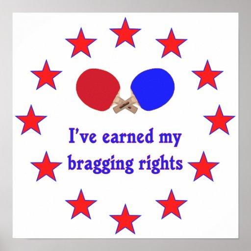 Bragging Rights Ping Pong Print