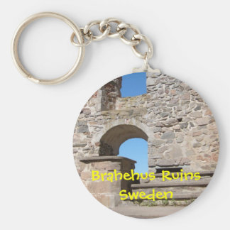 Brahehus Castle Ruins Sweden Basic Round Button Key Ring