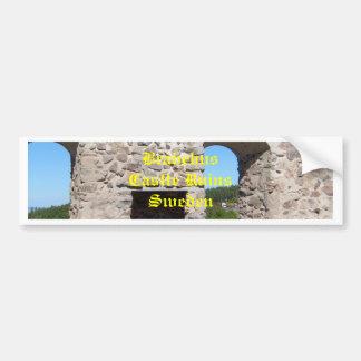 Brahehus Castle Ruins Sweden Car Bumper Sticker