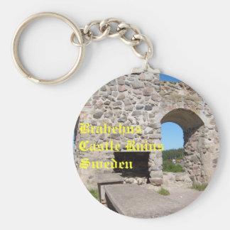 Brahehus Castle Ruins Sweden Key Chains