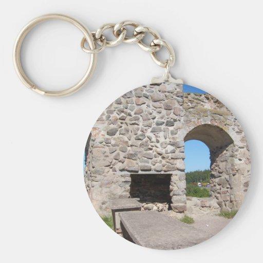 Brahehus Castle Ruins Sweden Keychains