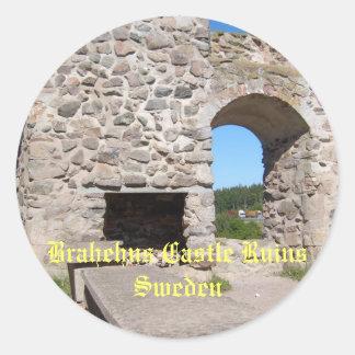 Brahehus Castle Ruins Sweden Classic Round Sticker