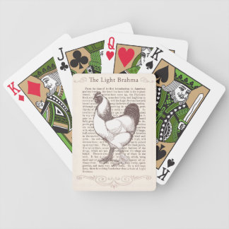 Brahma Chicken Breeder Enthusiast Vintage Farmer Bicycle Playing Cards