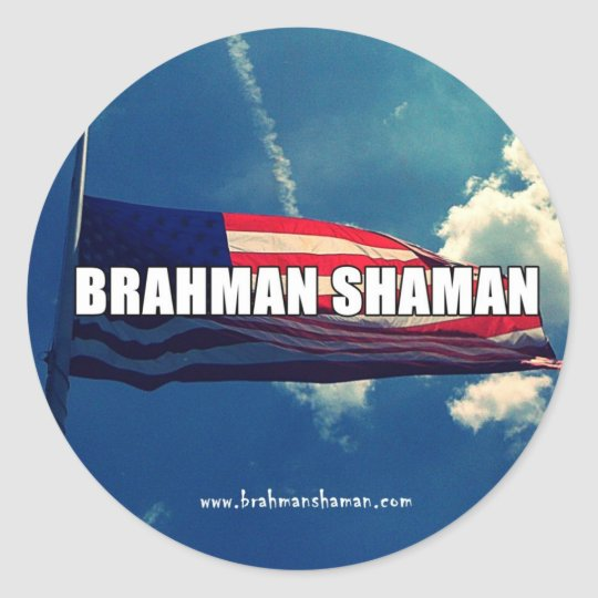 BRAHMAN SHAMAN - FLAG STICKER