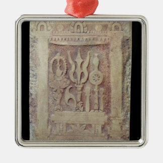 Brahman stele depicting the Trimurti Christmas Ornament