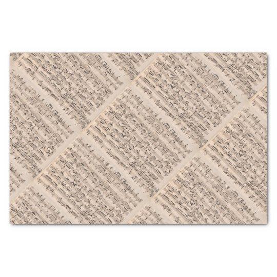 Brahms Music Manuscript Tissue Paper