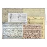 Brahms Music Manuscripts Greeting Card