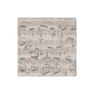 Brahms Theme and Variations Manuscript Fragment Stone Magnet