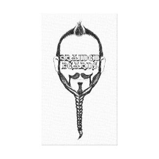 braided beards canvas prints