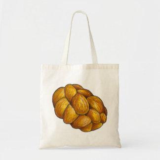 Braided Challah Bread Loaf Hanukkah Tote Bag