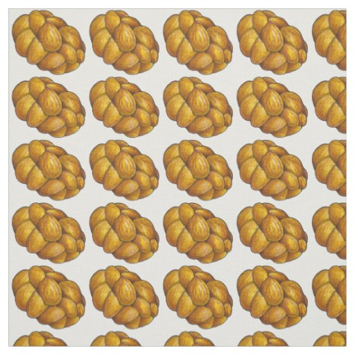 Braided Challah Bread Loaf Loaves Fabric