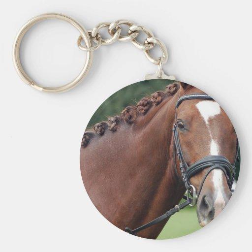 Braided Horse Mane Keychain