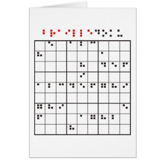 brailledoku card