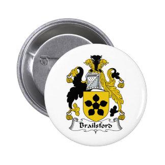 Brailsford Family Crest 6 Cm Round Badge