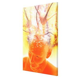 Brain activity, conceptual computer artwork. canvas print