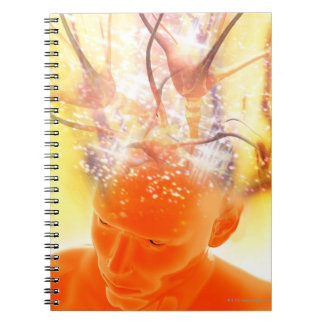 Brain activity, conceptual computer artwork. notebook