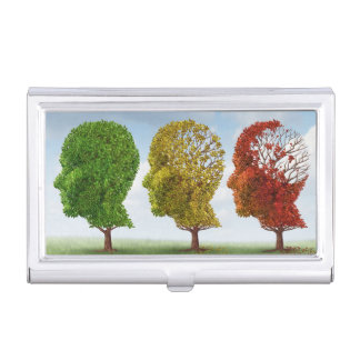 Brain Aging Business Card Holder