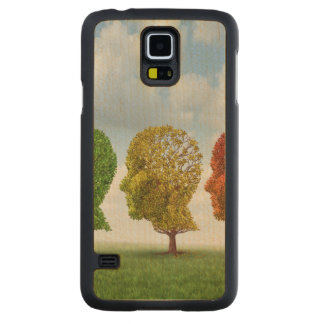 Brain Aging Carved Maple Galaxy S5 Case