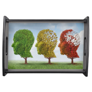 Brain Aging Serving Tray