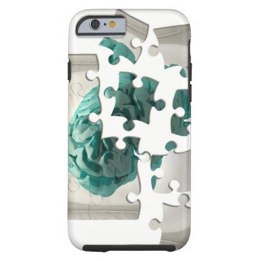 Brain analysis, conceptual computer artwork. iPhone 6 case