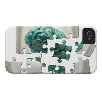 Brain analysis, conceptual computer artwork. iPhone 4 case