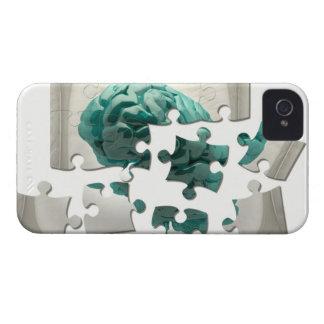Brain analysis, conceptual computer artwork. iPhone 4 covers