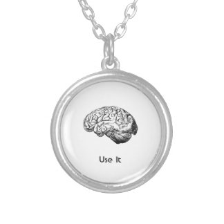 Brain Anatomy - Use It Silver Plated Necklace