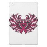 Brain Aneurysm Awareness Heart Wings.png iPad Mini Case