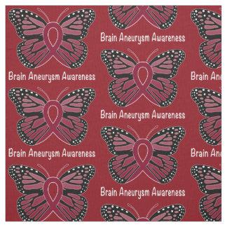 Brain Aneurysm Butterfly Awareness Ribbon Fabric
