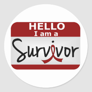 Brain Aneurysm Survivor 24.png Classic Round Sticker