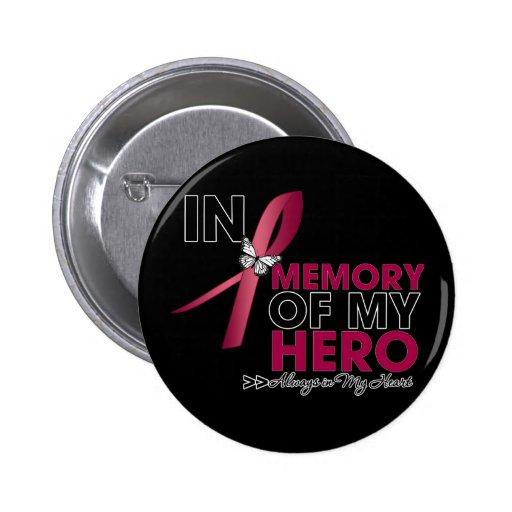 Brain Aneurysm Tribute In Memory of My Hero Pinback Buttons