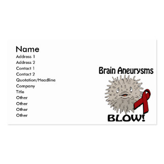 Brain Aneurysms Blows Awareness Design Double-Sided Standard Business Cards (Pack Of 100)