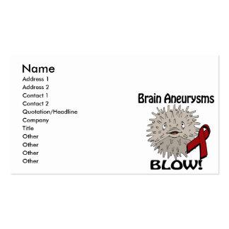 Brain Aneurysms Blows Awareness Design Business Card Templates