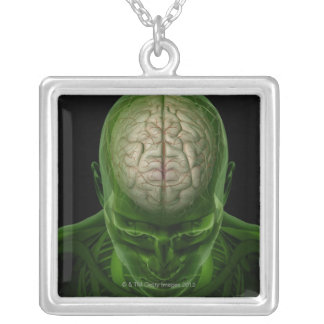 Brain Arteries Silver Plated Necklace