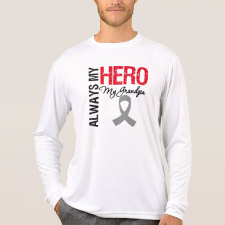 Brain Cancer Always My Hero My Grandpa T-Shirt