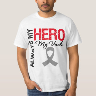 Brain Cancer Always My Hero My Uncle T-Shirt