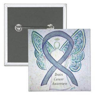 Brain Cancer Angel Awareness Ribbon Pins