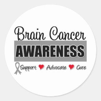 Brain Cancer Awareness Advocacy Sticker