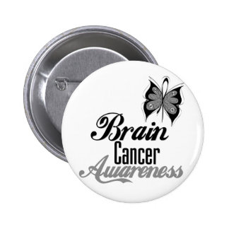 Brain Cancer Awareness Butterfly 6 Cm Round Badge