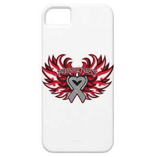 Brain Cancer Awareness Heart Wings iPhone 5 Cases