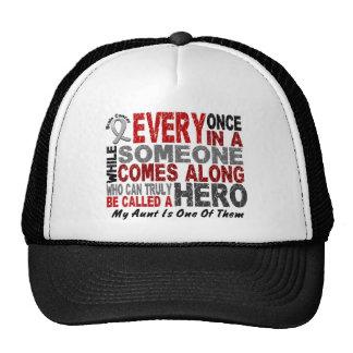 Brain Cancer Awareness HERO COMES ALONG 1 Aunt Mesh Hats
