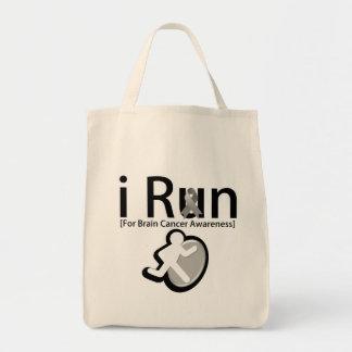 Brain Cancer Awareness I Run Tote Bags