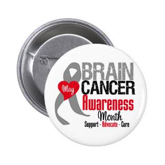 Brain Cancer Awareness Month Pin