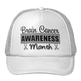 Brain Cancer Awareness Month Gray Ribbon Cap