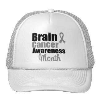 Brain Cancer Awareness Month Ribbon Trucker Hats